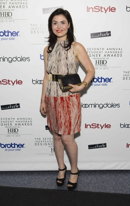 Emma Grady at the 2013 Independent Handbag Designer Awards in New York City.